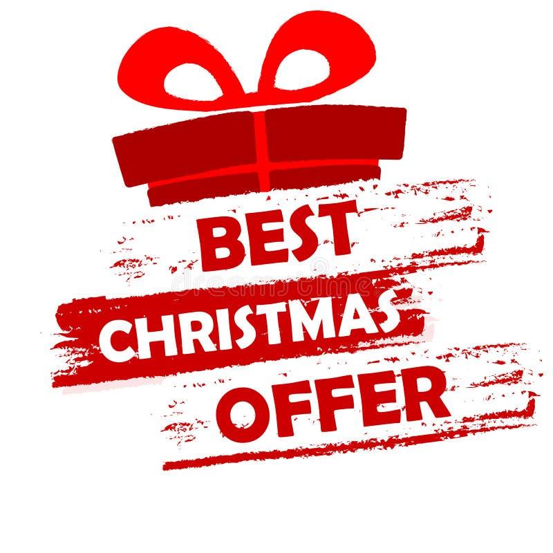 La mejor oferta de la Navidad libre illustration