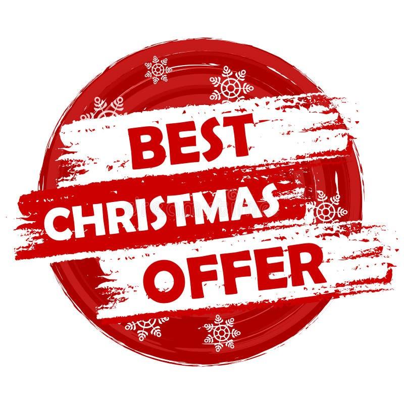 La mejor oferta de la Navidad stock de ilustración