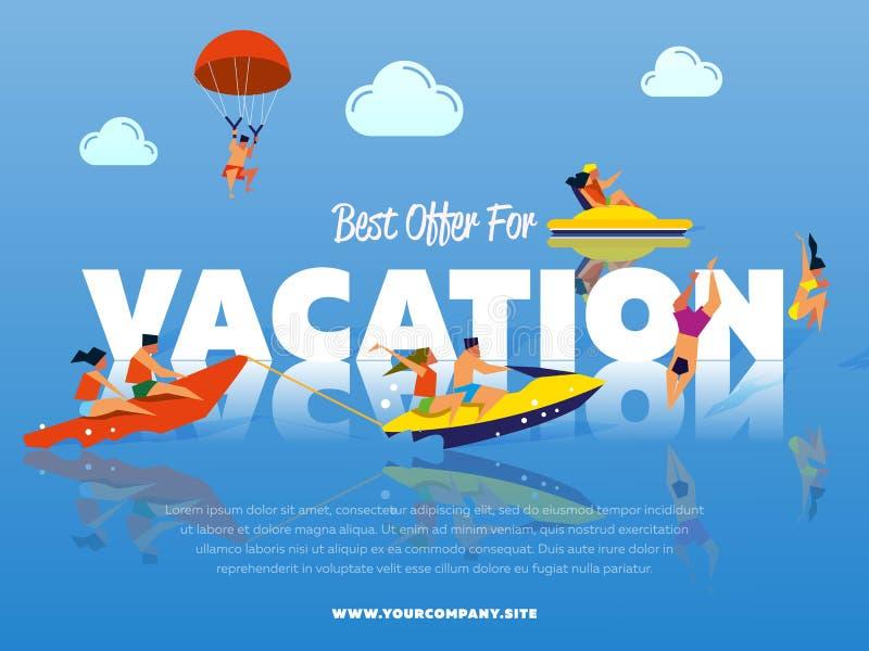 La mejor oferta para la bandera de las vacaciones libre illustration