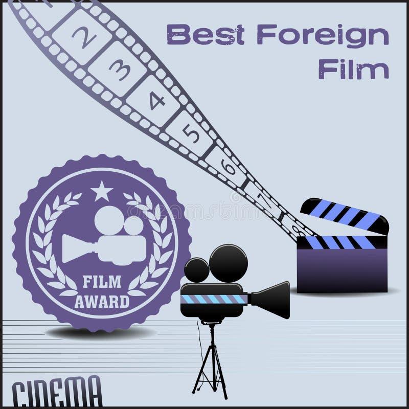 La mejor película extranjera stock de ilustración