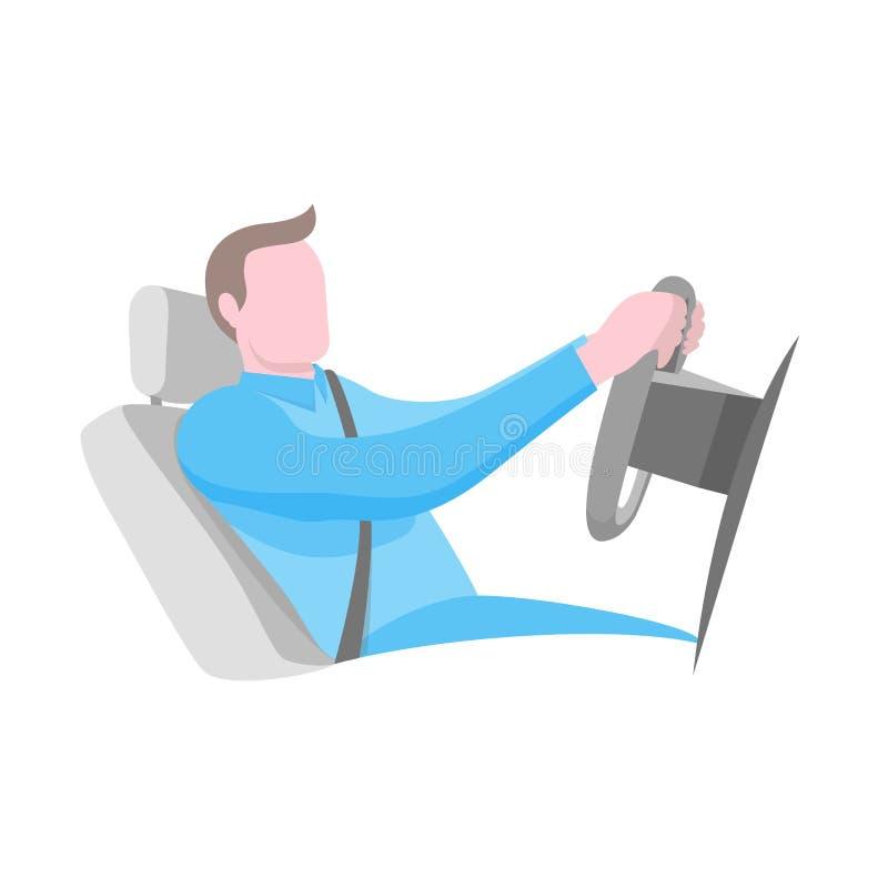 La mejor posición para conducir el coche ilustración del vector
