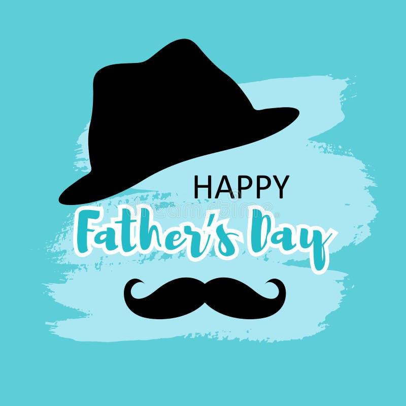 La mejor tarjeta del padre para los hombres con el bigote libre illustration