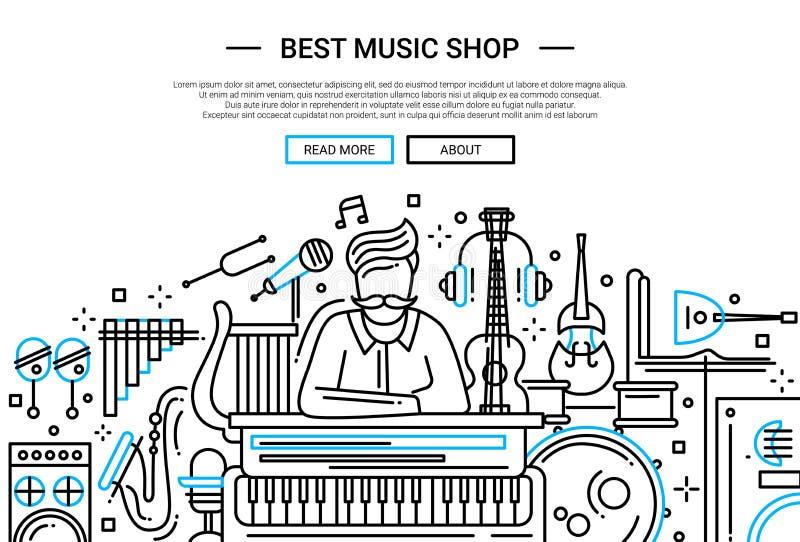 La Mejor Tienda De La Música - Plantilla De La Portada Del Sitio Web ...