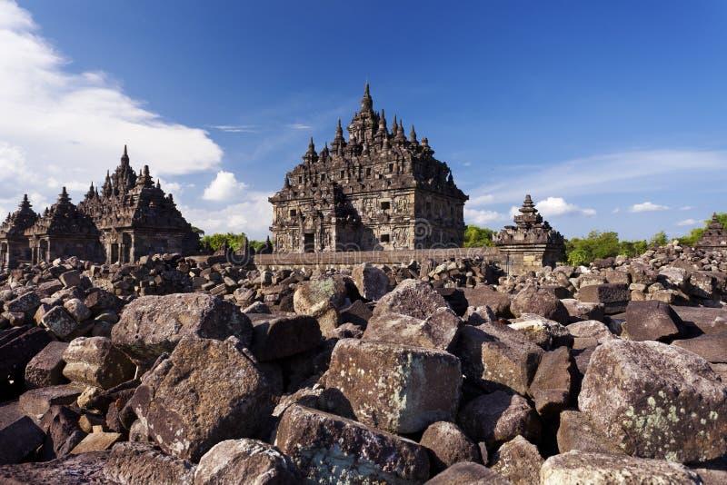 La mejor vista del templo de Candi Plaosan fotos de archivo