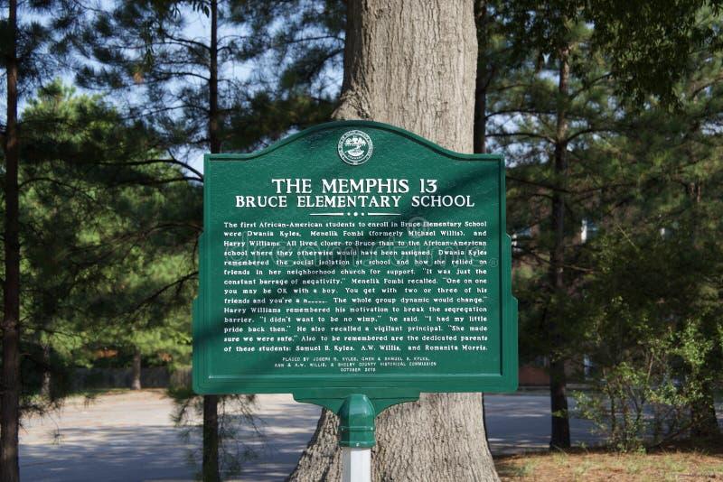 La Memphis 13 Bruce Elementary School fotos de archivo libres de regalías