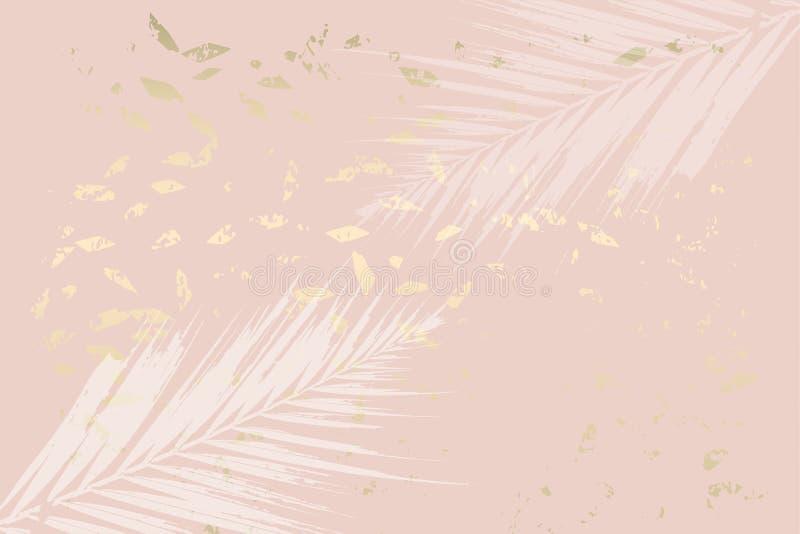 La menta de moda del follaje del otoño coloreó el oro se ruboriza fondo stock de ilustración
