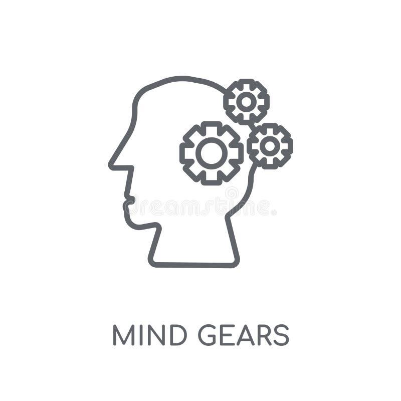 La mente adapta el icono linear La mente moderna del esquema adapta el concepto o del logotipo ilustración del vector