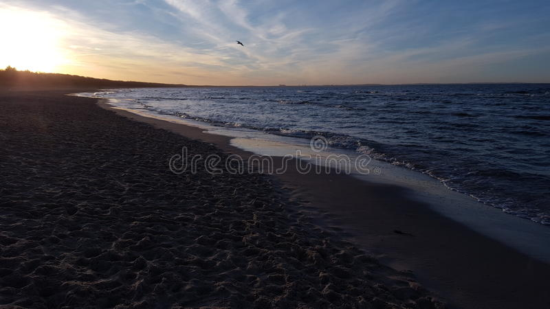 La mer baltique au coucher du soleil 01 photos libres de droits