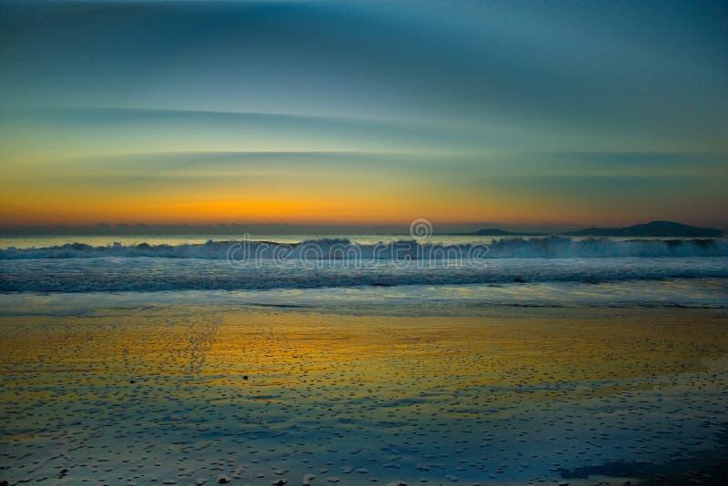 La mer-Bulgarie Lever de soleil-Noire image stock