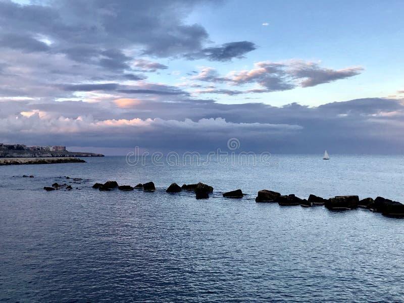 La mer de Stracysa photo stock