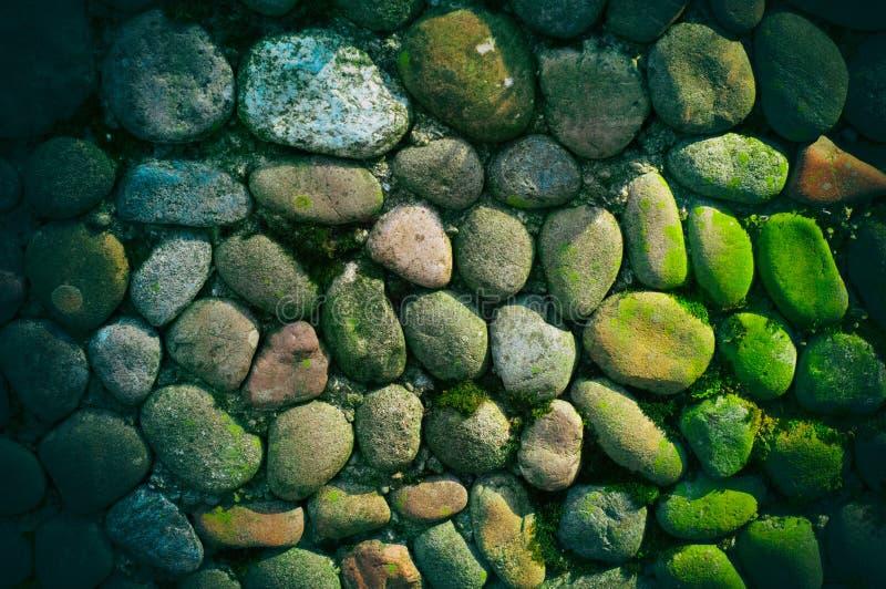 La mer lapide le fond Texture arrondie de pierres Pavé rond coloré images libres de droits