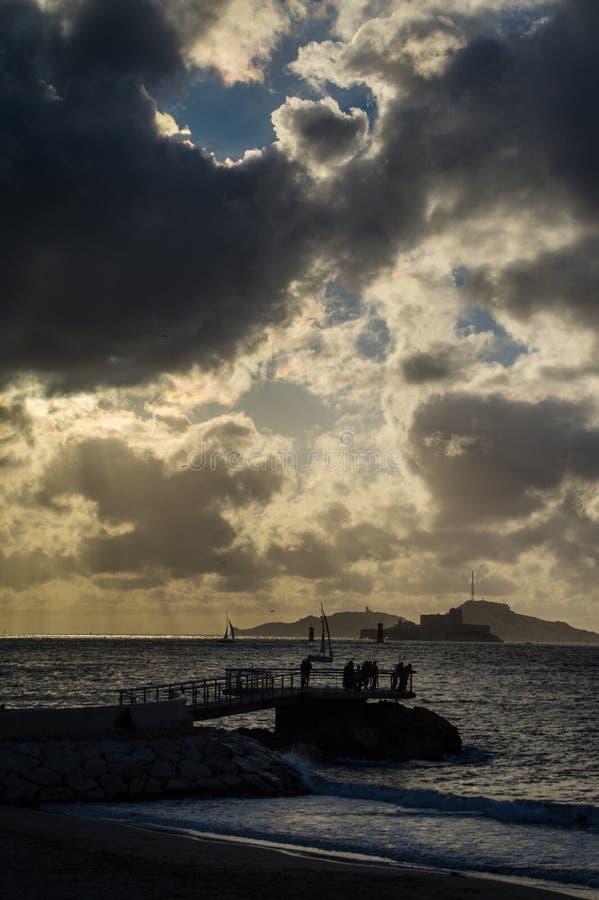 La mer Méditerranée à Marseille dans la bouche du Rhône photo stock