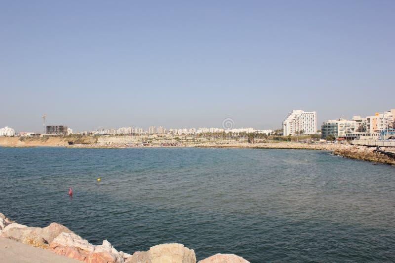 La mer Méditerranée Ashkelon Israël 2016 image stock