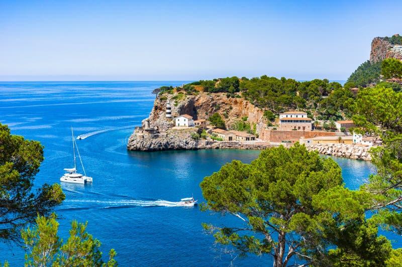 La mer Méditerranée Espagne Majorca Port de Soller images libres de droits