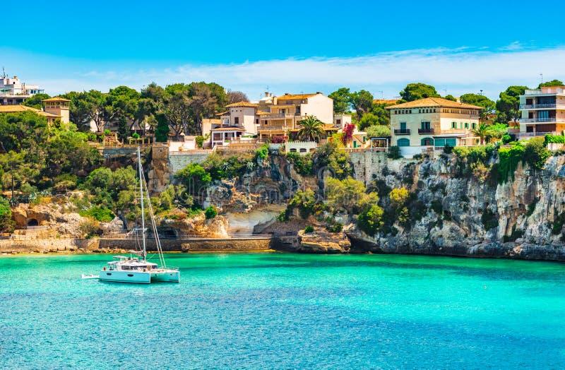 La mer Méditerranée Majorca Porto Cristo de l'Espagne image stock
