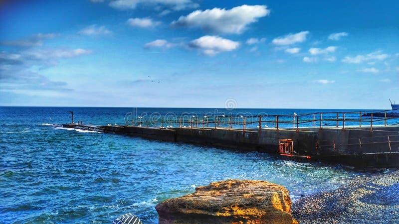 La Mer Noire à Odessa images libres de droits