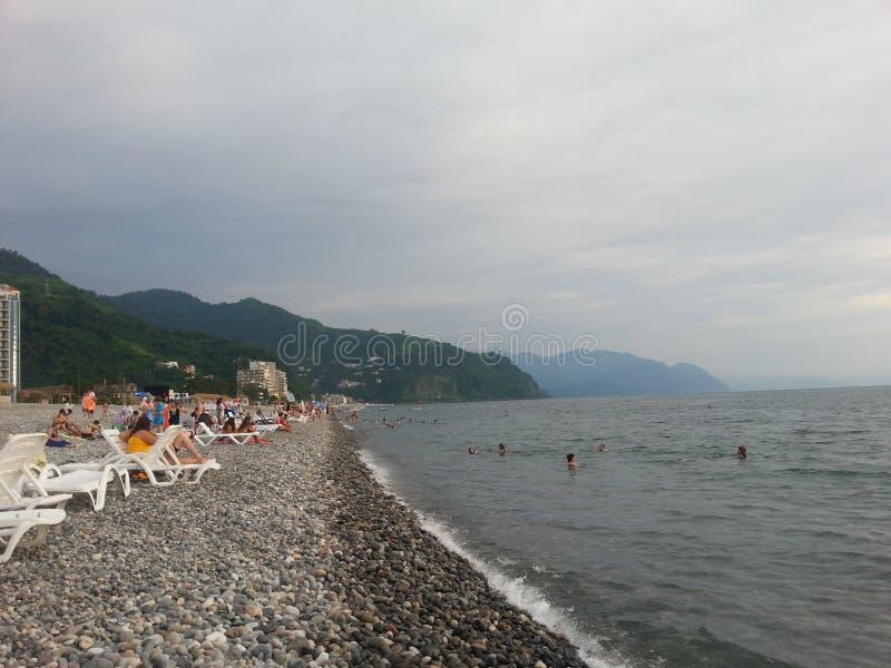 La Mer Noire, la Géorgie photo libre de droits