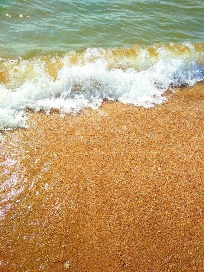 La Mer Noire un jour ensoleillé orageux image stock