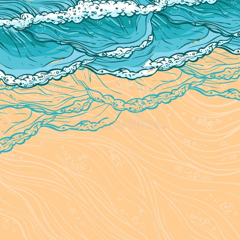 La mer ondule le fond illustration libre de droits