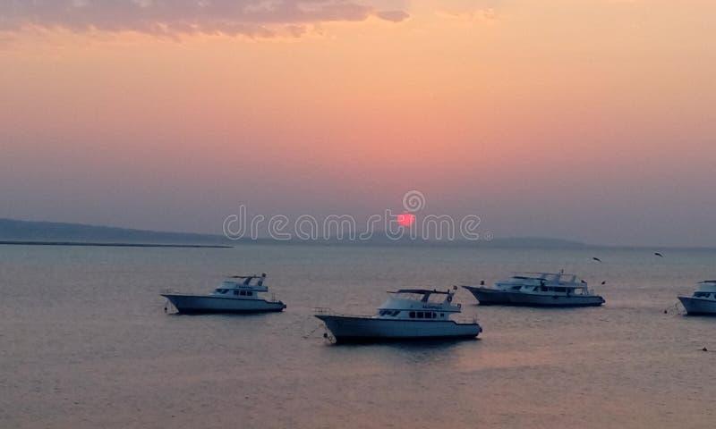 La Mer Rouge Egypte de hurghada de lever de soleil paisible photos libres de droits
