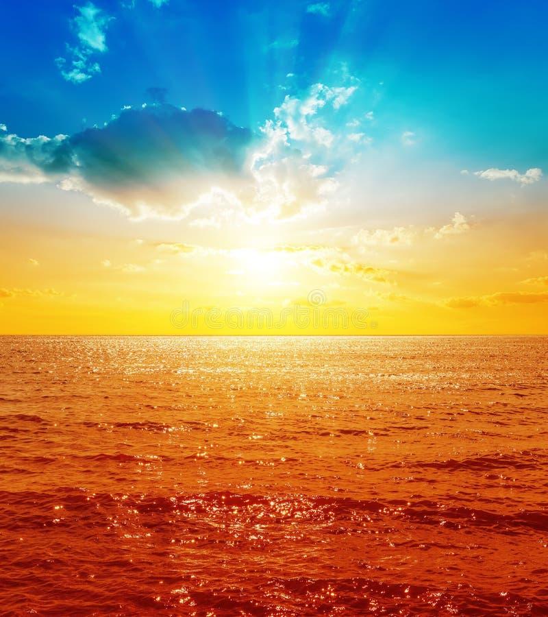 La Mer Rouge et coucher du soleil photographie stock