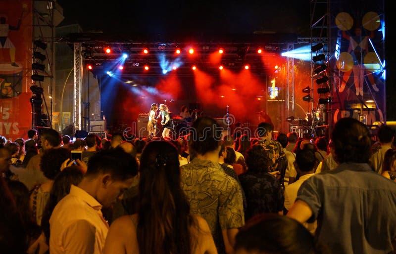 La Merce Free Music Concert in Barcelona Spanien lizenzfreies stockbild