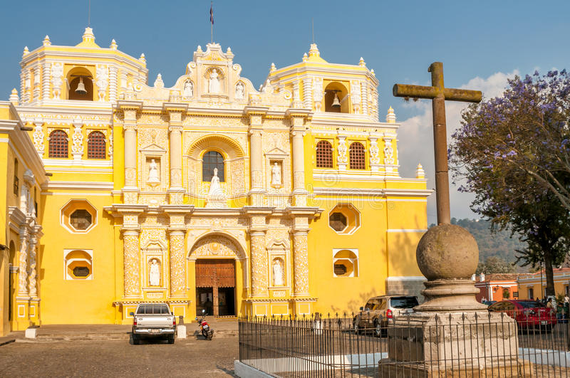 La Merced Church. Antigua,Guatemala royalty free stock photos