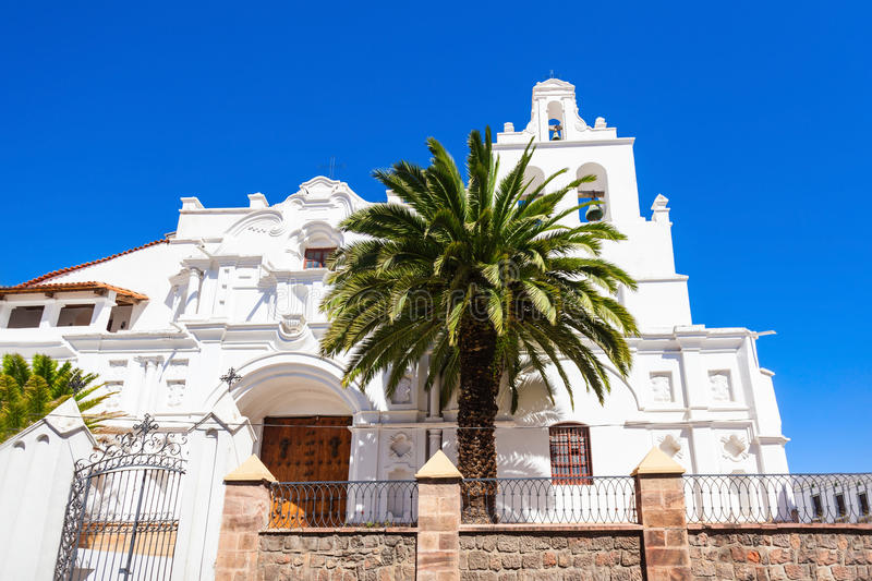 La Merced Church. Is located in Sucre, Bolivia stock photo