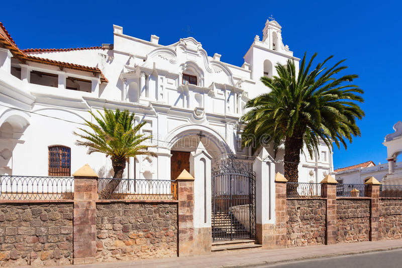 La Merced Church. Is located in Sucre, Bolivia royalty free stock photo