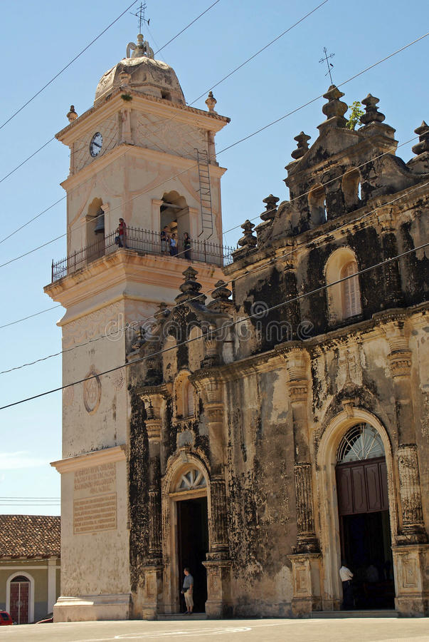 La Merced da igreja, Granada, Nicarágua imagens de stock royalty free
