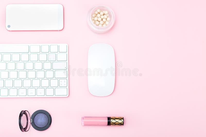 La mesa femenina, imita encima de isométrico imágenes de archivo libres de regalías