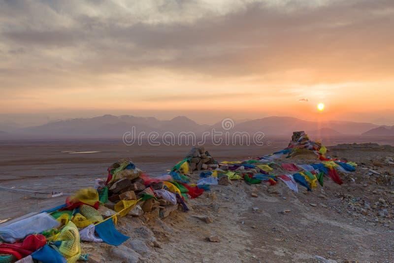 La meseta tibetana imagen de archivo