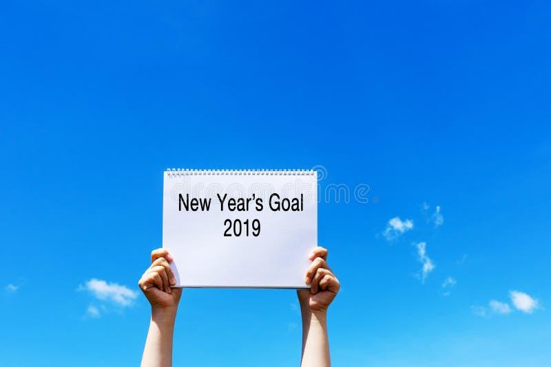 La meta 2019 del Año Nuevo fotos de archivo