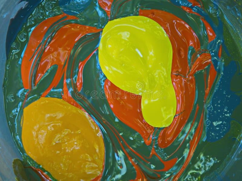 La mezcla de madera del fondo de la lona colorida de la pintura de pinturas mancha textura brillante foto de archivo