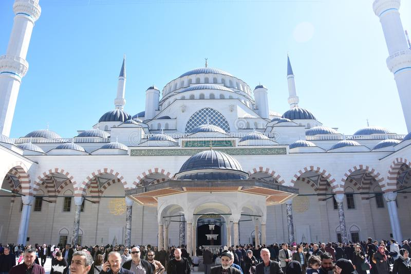La mezquita Ä°stanbul Turquía de Camlica imagen de archivo