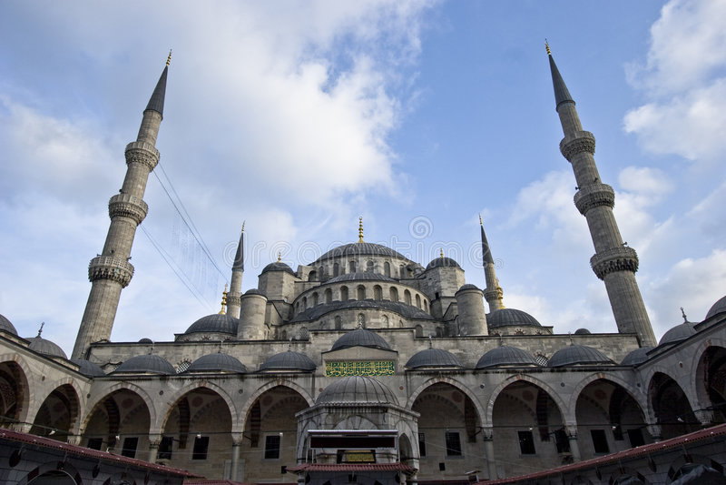 La mezquita azul imagenes de archivo