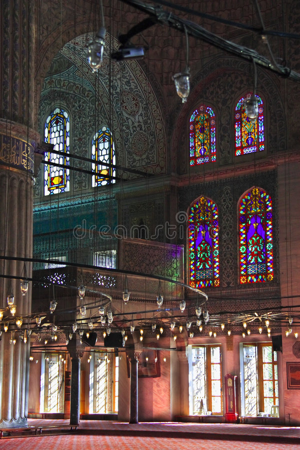 La mezquita de Ahmed del sultán - mezquita azul de Estambul fotografía de archivo