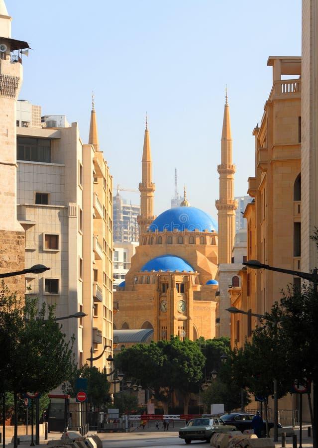 La mezquita de la Al-Amina en Beirut (Líbano) imagen de archivo