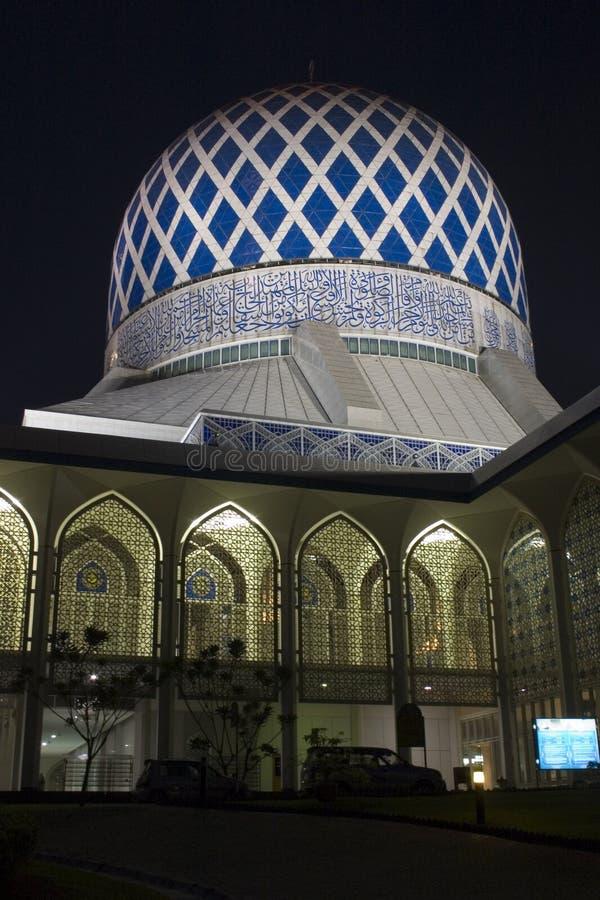 La mezquita de Salahuddin Abdul Aziz Shah del sultán en Shah Alam. imagen de archivo libre de regalías