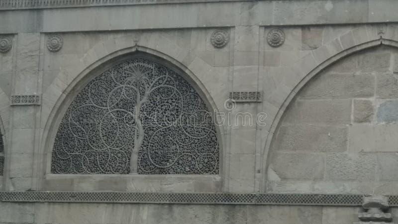 La mezquita de Sidi Saiyyed debe visitar imagen de archivo libre de regalías