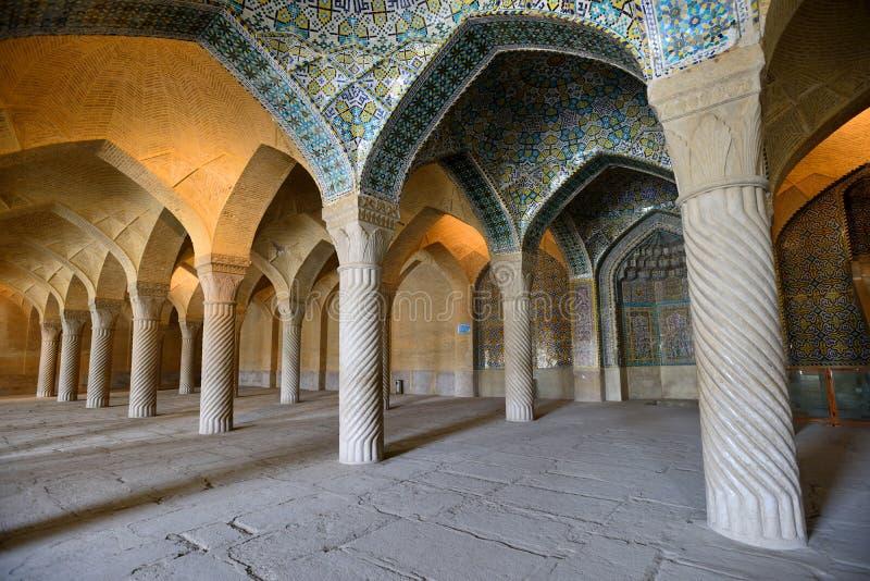 La mezquita de Vakil en Shiraz, Irán imágenes de archivo libres de regalías
