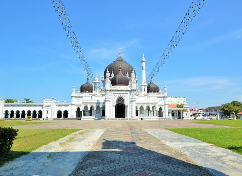 La mezquita más hermosa de Zahir de Kedah Malasia fotos de archivo libres de regalías