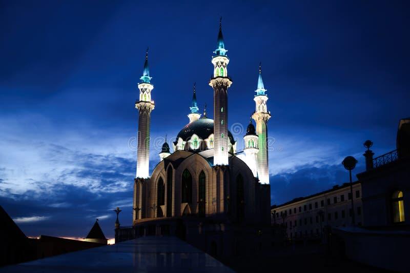 La mezquita principal de Juma de la catedral de la República de Tartaristán Kul Sharif imagenes de archivo