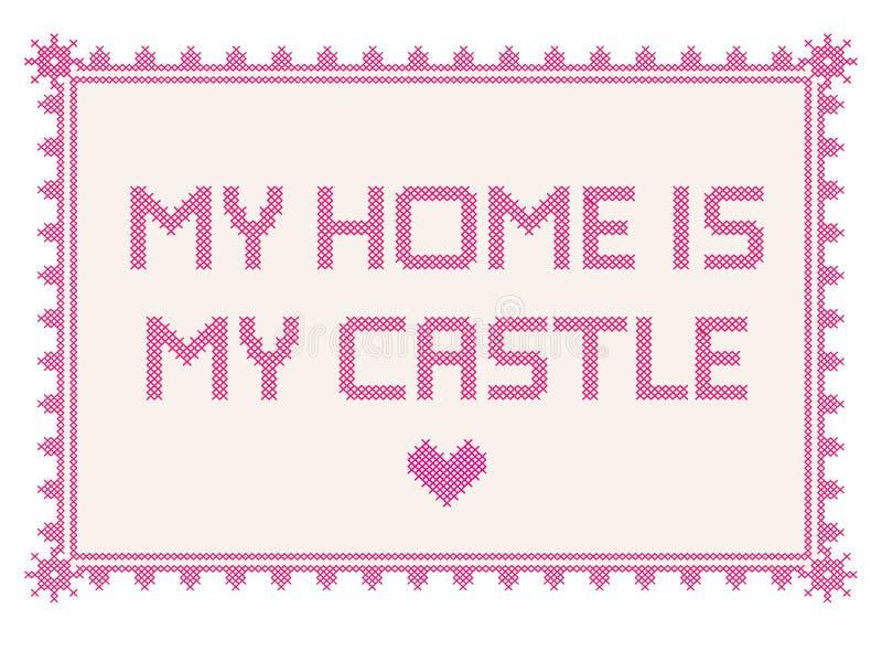 La mia casa è il mio castello immagini stock libere da diritti