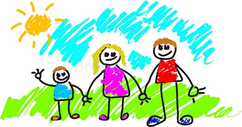 La mia famiglia illustrazione di stock