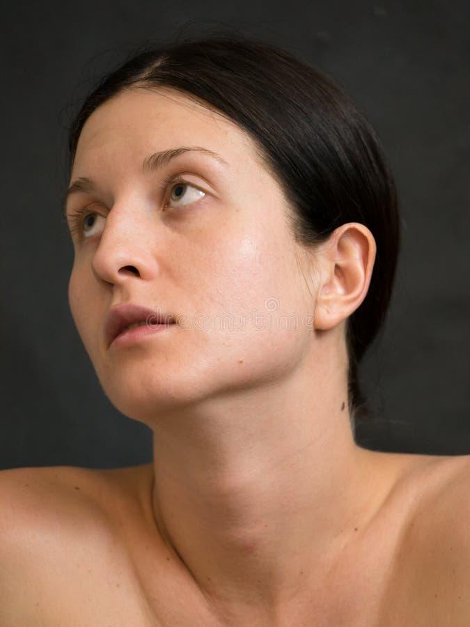 La mia ragazza conosce la non sua bellezza fotografie stock libere da diritti
