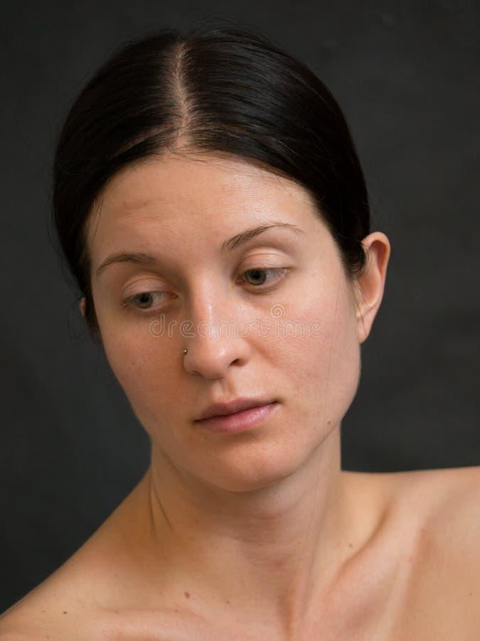 La mia ragazza conosce la non sua bellezza fotografia stock libera da diritti