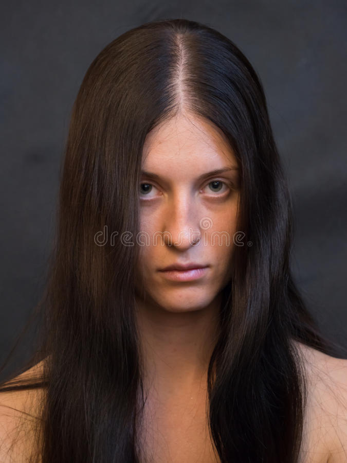La mia ragazza conosce la non sua bellezza immagini stock libere da diritti