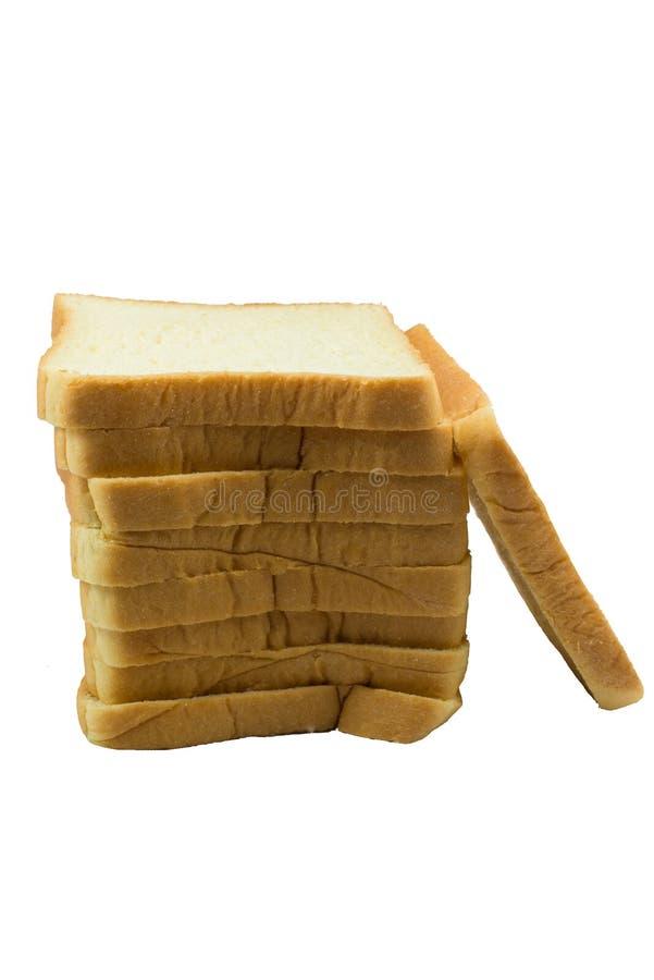La miche de pain de coupe avec la réflexion d'isolement photographie stock