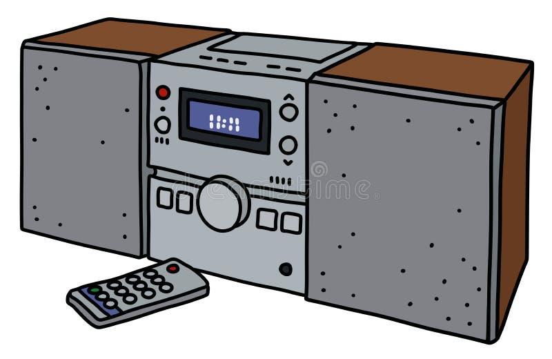 La micro torre di musica illustrazione vettoriale